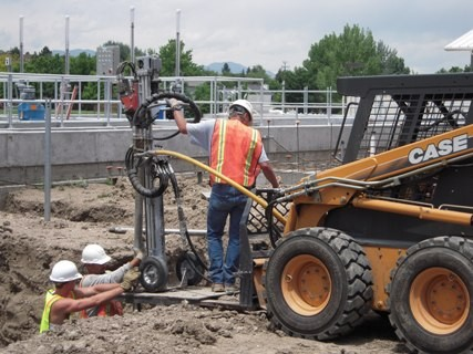 Helical Pier Installation - Ft. Collins