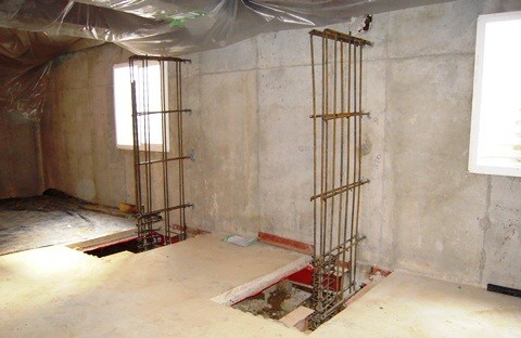 Interior Buttress for Wall Stabilization