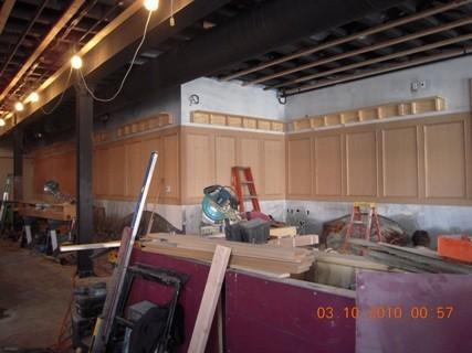 Custom wall paneling
