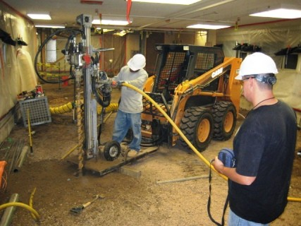 Micropiles for Commercial Floor