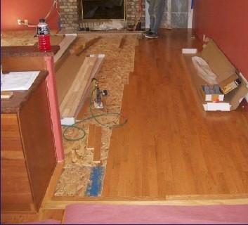 Interior remodel - flooring